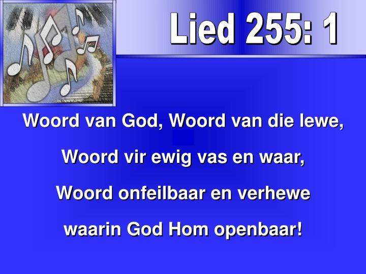 Lied 255: 1