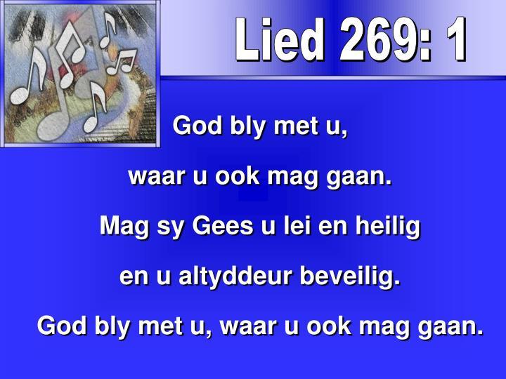 Lied 269: 1
