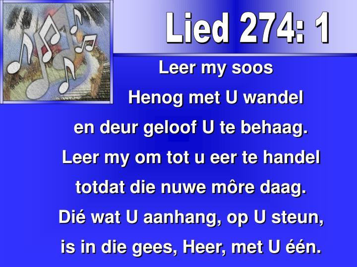Lied 274: 1