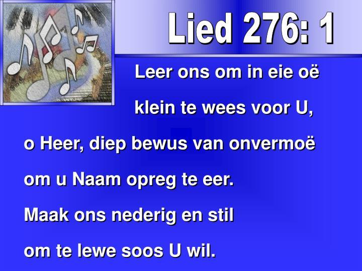 Lied 276: 1