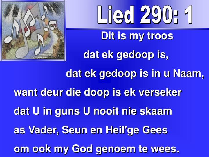 Lied 290: 1