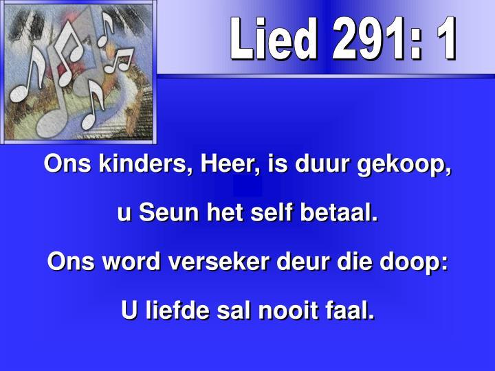 Lied 291: 1