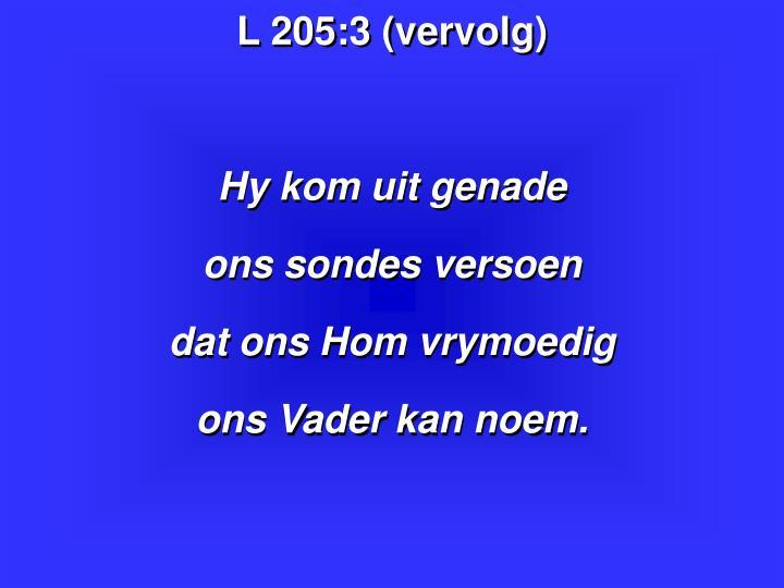 L 205:3 (vervolg)