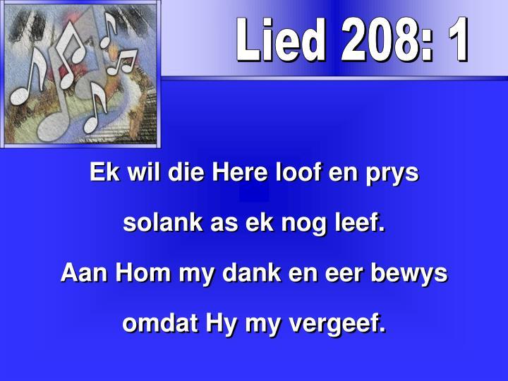 Lied 208: 1
