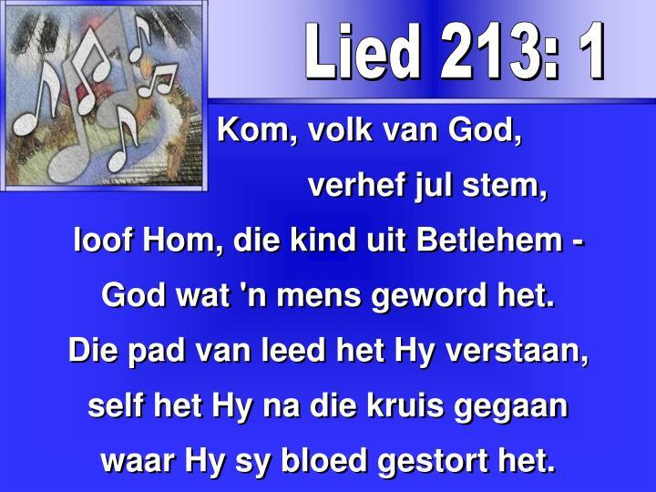 Lied 213: 1