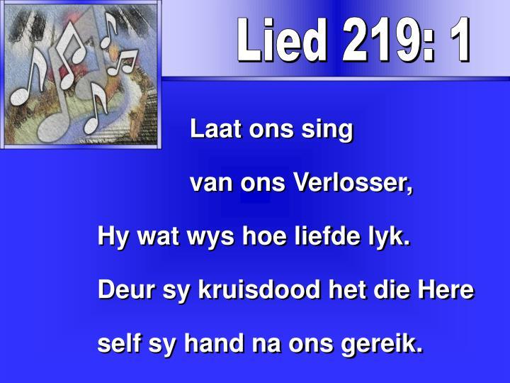 Lied 219: 1