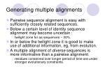 generating multiple alignments