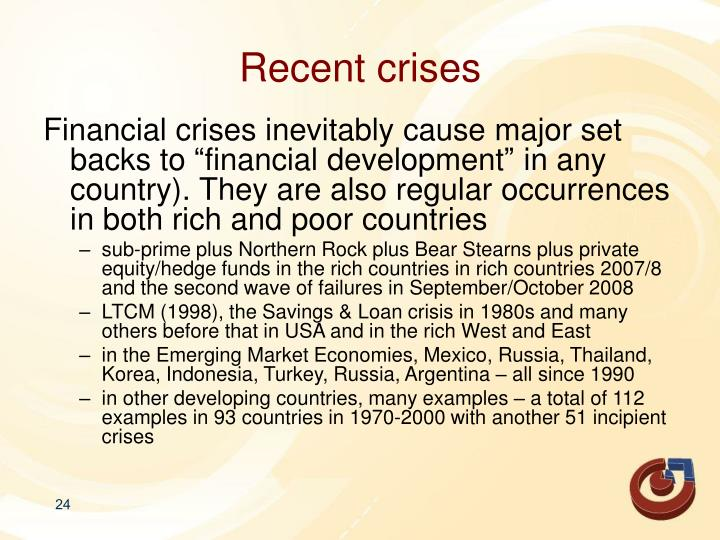 Recent crises