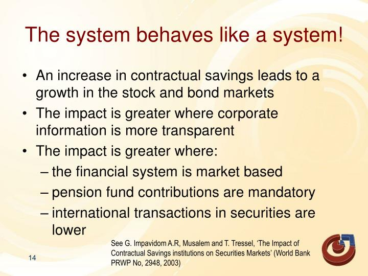 The system behaves like a system!