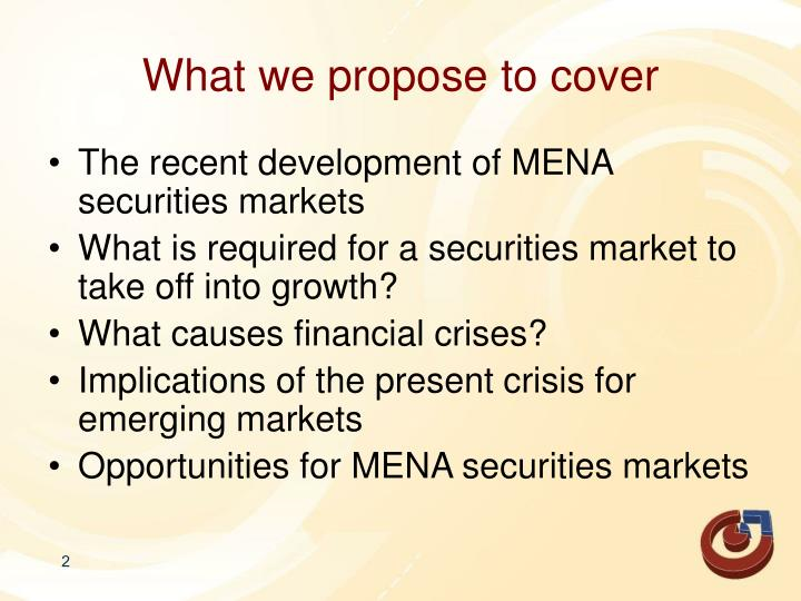 What we propose to cover