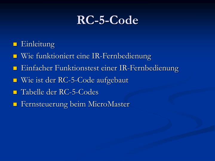 Rc 5 code