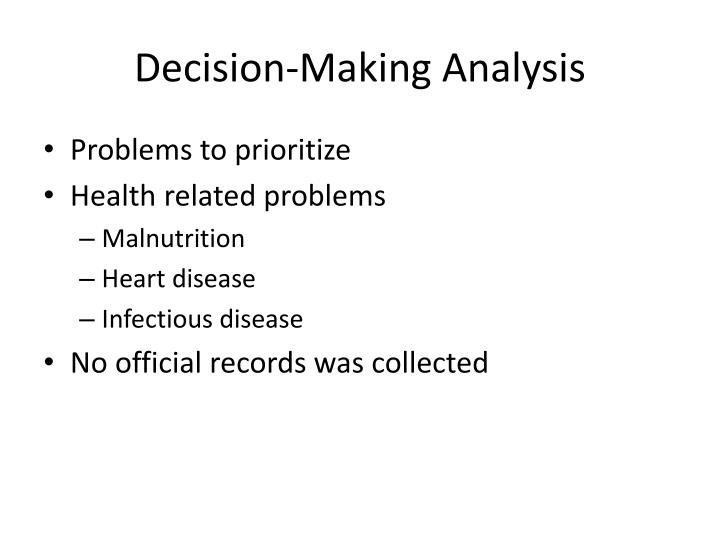 Decision-Making Analysis