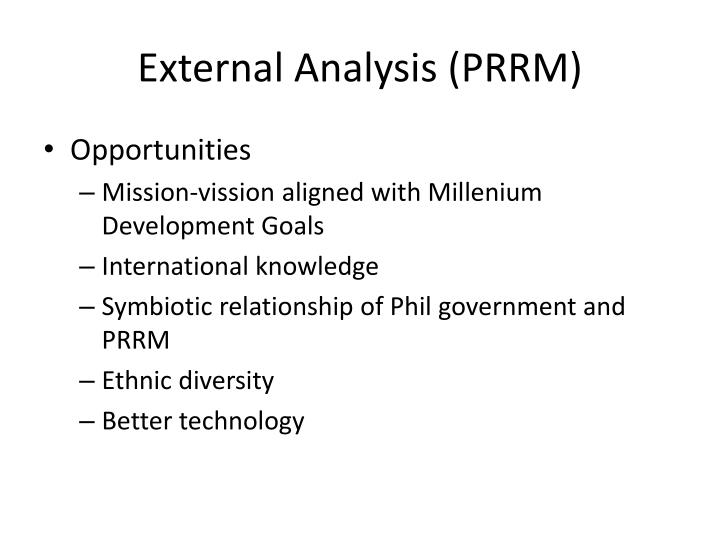 External Analysis (PRRM)