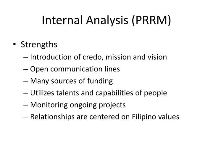 Internal Analysis (PRRM)