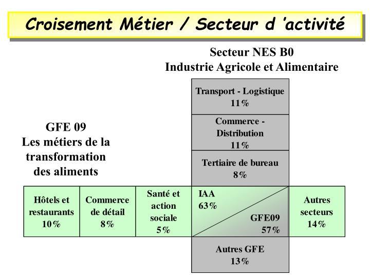 Croisement Métier / Secteur d'activité