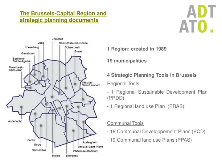 The Brussels-Capital Region and strategic planning documents