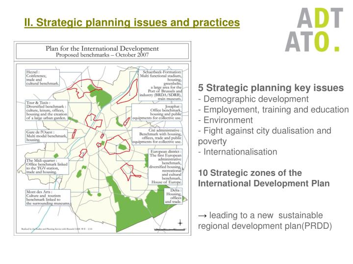 II. Strategic planning issues and practices