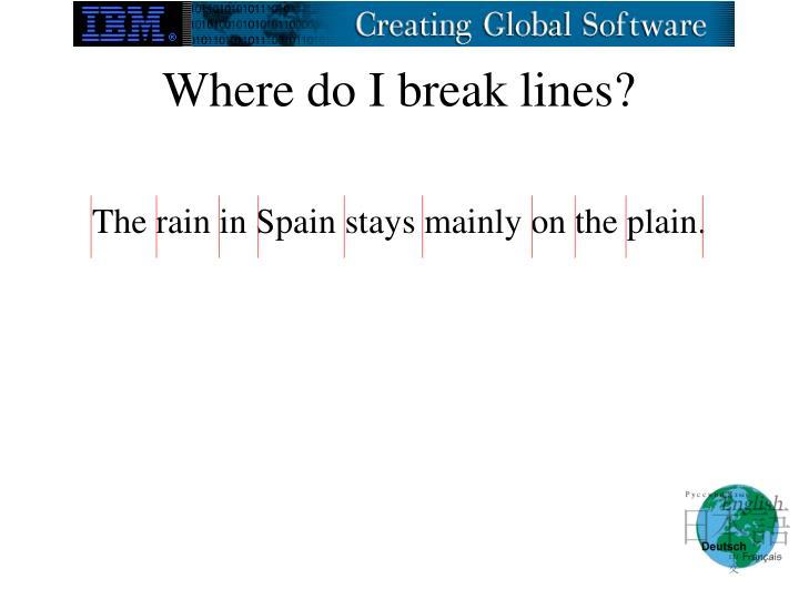 Where do i break lines