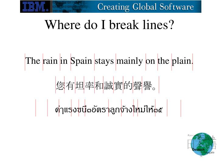 Where do I break lines?
