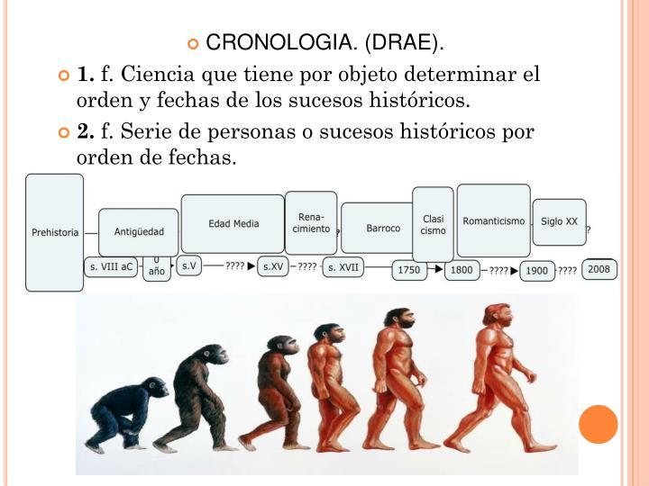 CRONOLOGIA. (DRAE).