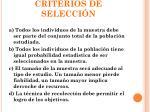 criterios de selecci n
