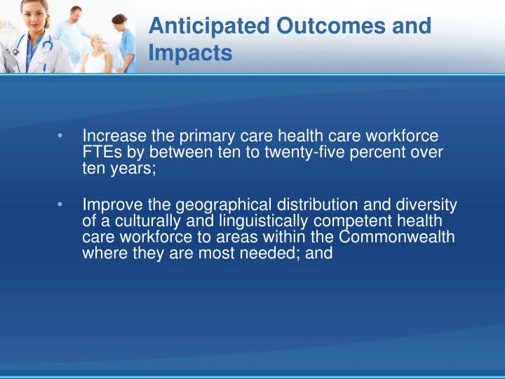 Anticipated Outcomes and Impacts