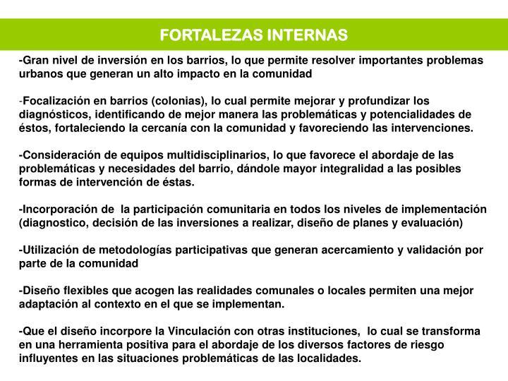 FORTALEZAS INTERNAS
