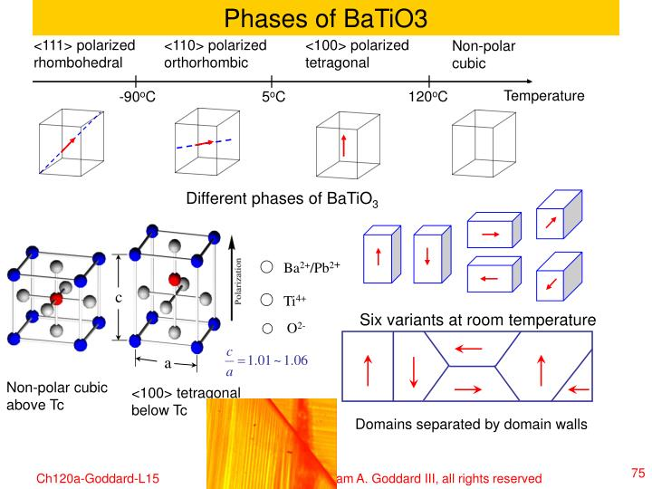 Phases of BaTiO3