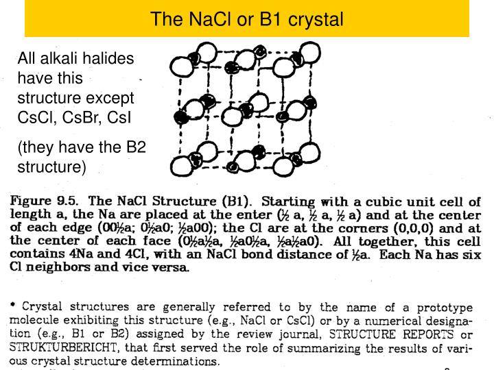 The NaCl or B1 crystal