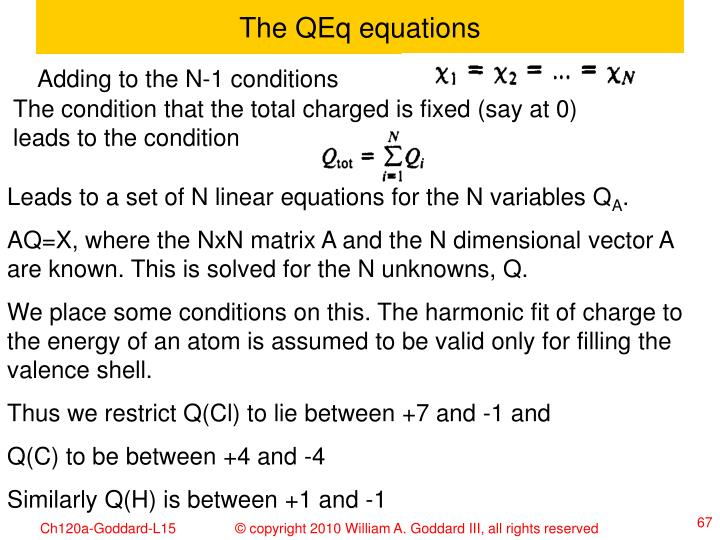 The QEq equations