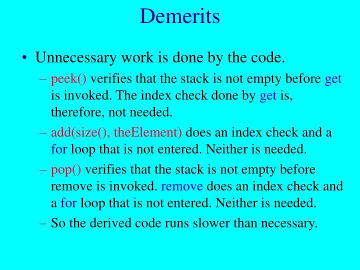 Demerits
