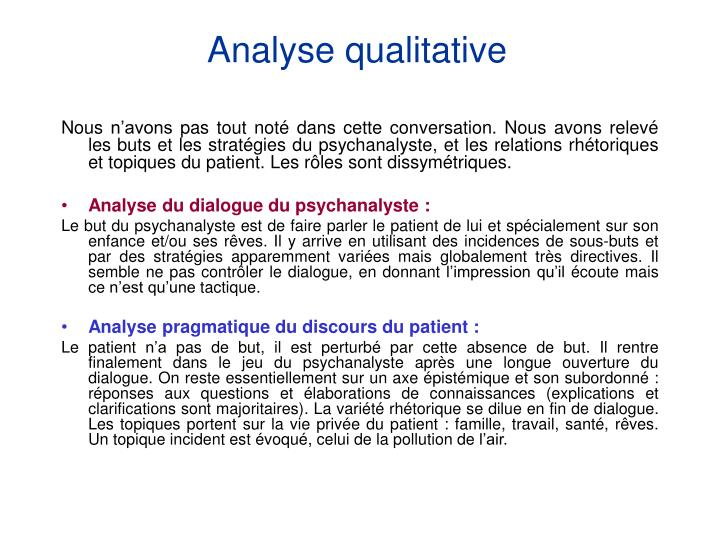 Analyse qualitative