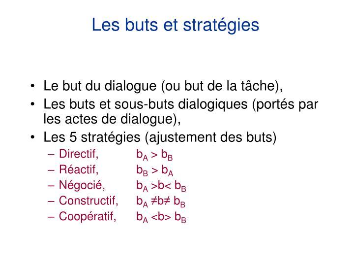 Les buts et stratégies