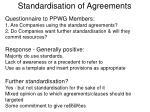 standardisation of agreements1