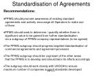 standardisation of agreements2
