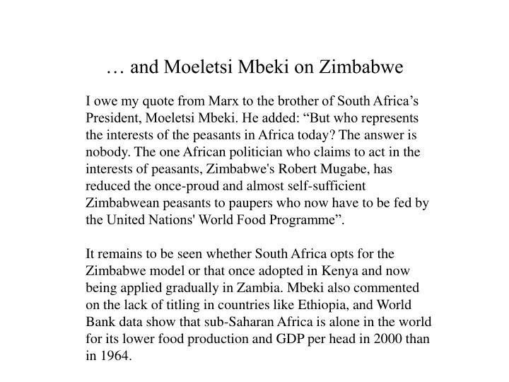 … and Moeletsi Mbeki on Zimbabwe