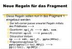 neue regeln f r das fragment