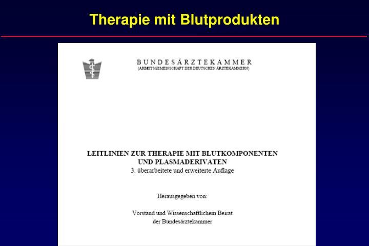 Therapie mit blutprodukten1