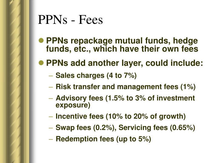 PPNs - Fees