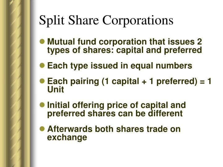 Split Share Corporations