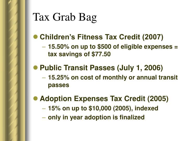 Tax Grab Bag