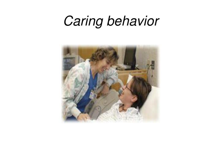 Caring behavior