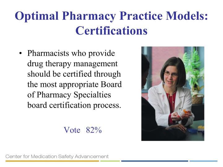 Optimal Pharmacy Practice Models: