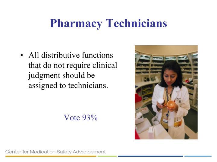 Pharmacy Technicians