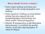 bursa sekuriti security exchange