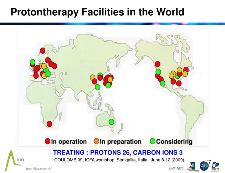 Protontherapy Facilities in the World