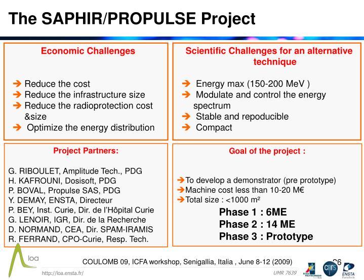 The SAPHIR/PROPULSE Project