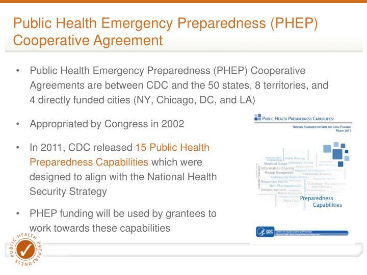 Public Health Emergency Preparedness (PHEP) Cooperative Agreement