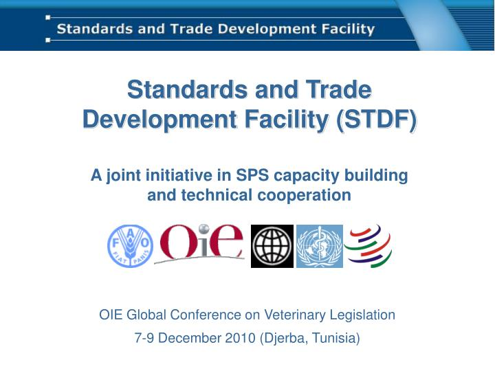 standards and trade development facility stdf n.