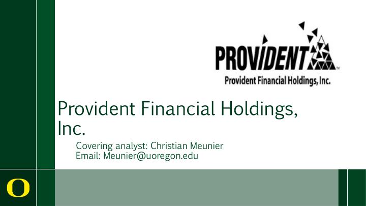 provident financial holdings inc n.
